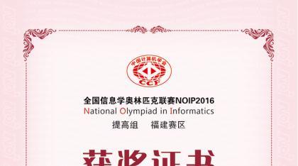 2016年提高组一等奖